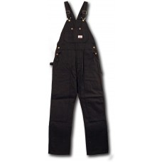 Black Heavy Duty Duck Bib Overalls