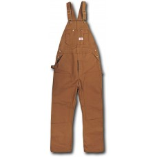Brown Heavy Duty Duck Bib Overalls